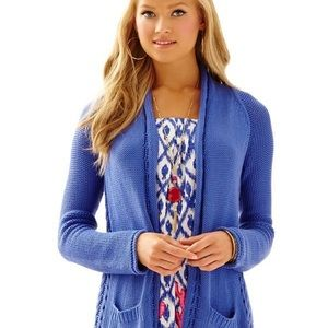 Lilly Pulitzer blue cardigan